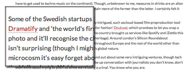 We've got press! UK's Magnate writes about Dramatify.