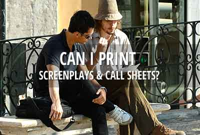 Can I print screenplays and call sheets?