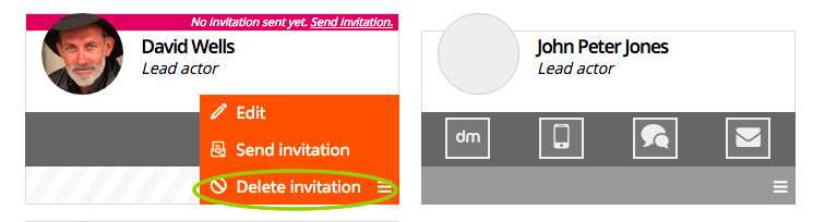Delete invitation