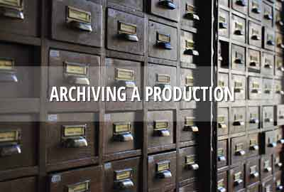Archive your production & end your subscription period