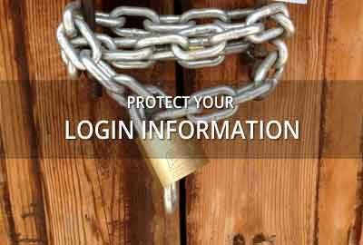 Protect your login information